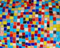 Bunte Quadrat-Mosaik-Fliesen Stockfotos