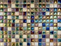 Bunte quadratische Keramikfliesen lizenzfreies stockfoto