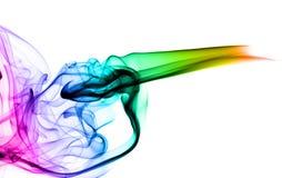 Bunte Rauch Abstraktion auf Weiß Stockbilder