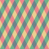 Bunte Raute. Nahtloses Muster, Hintergrund Stockfoto