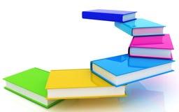 Bunte reale Bücher Lizenzfreies Stockfoto