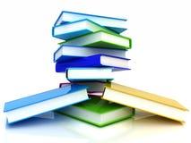 Bunte reale Bücher Stockbilder