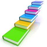 Bunte reale Bücher Stockbild