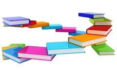 Bunte reale Bücher Lizenzfreies Stockbild