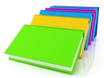 Bunte reale Bücher Lizenzfreie Stockfotos