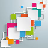 Bunte Rechteck-Quadrat-diagonaler Entwurf PiAd Lizenzfreie Stockbilder