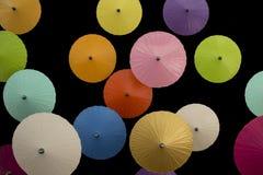 Bunte Regenschirme Stockfotografie