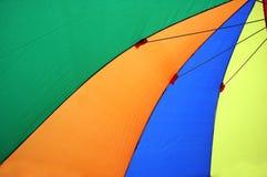 Bunte Regenschirmzelte Stockfoto