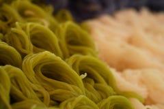 Bunte Reisnudel oder bunte Reissuppennudeln sind Thailand-Traditionseinheimischlebensmittel Stockfotografie