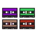 Bunte Retro- Audiokassetten Stockfotografie