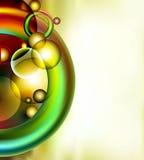 Bunte Ringe und Blasen Stockbilder