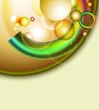 Bunte Ringe und Blasen Stockfoto