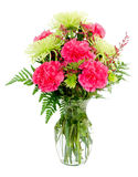 Bunte rosafarbene und grüne Blumenanordnung Lizenzfreies Stockfoto