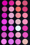 Buntes Rouge beschattet Palette Stockfotos