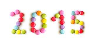 2015 bunte Süßigkeiten Stockbilder