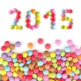 2015 bunte Süßigkeiten Lizenzfreie Stockbilder