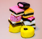 Bunte Süßigkeiten Stockfotos