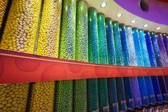 Bunte Süßigkeiten der Schokolade Stockbild