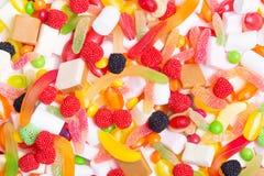 Bunte Süßigkeiten, Gelees und Eibische Stockfoto