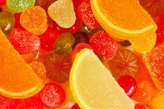 Bunte Süßigkeiten und Jujubenahaufnahme Stockbilder