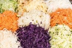 Bunte Salatmischung - Nahaufnahme stockbild