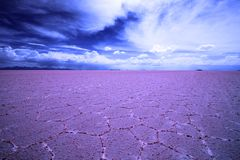 Bunte Salz-Ebenen, Salar De Uyuni, Bolivien, Südamerika lizenzfreie stockfotografie