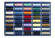 Bunte Sammlung des Threads lizenzfreies stockfoto