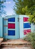 Bunte Santa Fe Gate Lizenzfreies Stockfoto