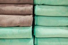Bunte schöne Tücher der Nahaufnahme für Hintergrund Stockbild