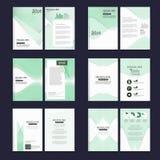 Bunte Schablone des Geschäftsbroschürenfliegerabdeckungs-Entwurfs in der Größe A4, mit erstem Designschablonenhintergrund Lizenzfreie Stockbilder