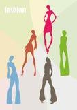 Weibliche Modelle Stockfoto