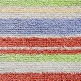 Bunte Schichten Teppich-Beschaffenheit stockbild