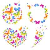 Bunte Schmetterlinge, Karte Stockfotografie