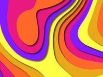 Bunte schnitzende Kunst Papier geschnittener abstrakter Hintergrund mit Papier schnitt Formen SchablonenEntwurf für Geschäftsdars lizenzfreies stockfoto