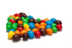 Bunte schokoladeüberzogene Süßigkeit Stockfoto