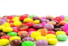 Bunte Schokoladensüßigkeit Stockbild