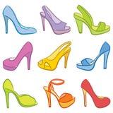 Bunte Schuhe. Stockfoto