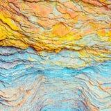 """Bunte Sedimentgesteine bildeten sich durch die Ansammlung von Sedimente †""""natürliche Gesteinsschichthintergründe, -muster und - stockbilder"""