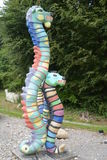 Bunte Seepferdchen-Skulpturen Lizenzfreie Stockfotografie