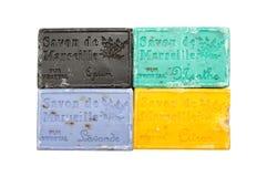 Bunte Seifenstäbe in den verschiedenen Farben stockbilder
