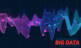Bunte Sichtbarmachung der großen Daten Futuristisches infographic Ästhetisches Design der Informationen Sichtdatenkomplexität Stockfoto