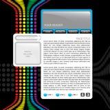 Bunte site-Schablone Stockfotos