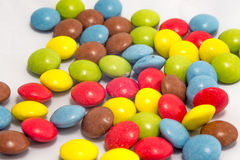 Bunte Smarties Stockbild