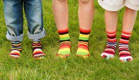 Bunte Socken Stockfoto
