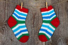 Bunte Socken Stockbild