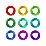 Bunte spheric Ringe des abstrakten Designs EPS10 Stockfoto