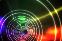 Bunte Spirale mit hellem Licht Stockbilder