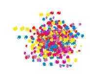Bunte Spiralenkonfettis des Gekritzels lizenzfreie abbildung
