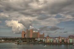 Bunte städtische Häuser von Nassau stockbild