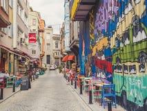Bunte Stadt von Balat Istanbul Stockfoto
